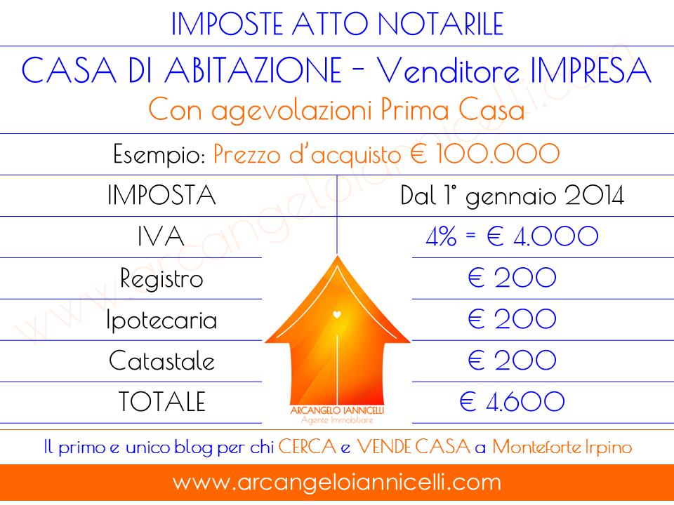 Imposte prima casa good prospetto imposte u with imposte - Calcolo costo notaio acquisto prima casa ...